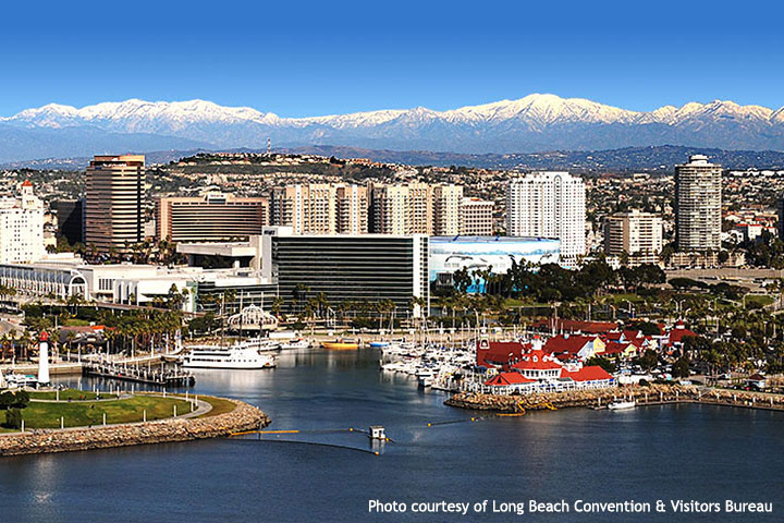 Skyline view of down town Long Beach